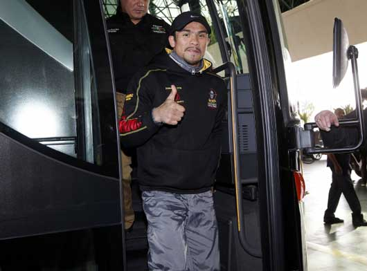 ラスベガスに到着したファン・マヌエル・マルケス